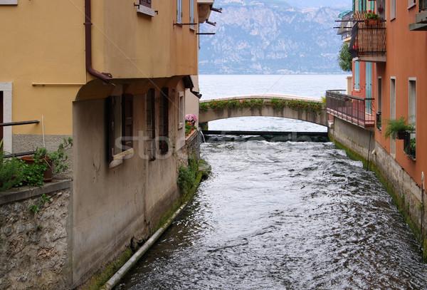 Cassone di Malcesine bridge on Lake Garda Stock photo © LianeM