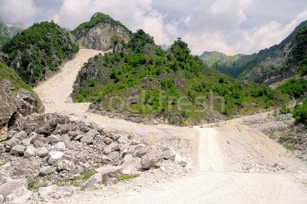 Carrara  marble stone pit 07 Stock photo © LianeM