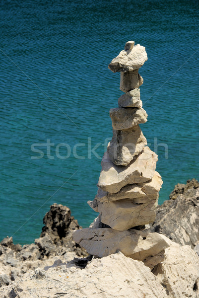 tower from pebbles 24 Stock photo © LianeM