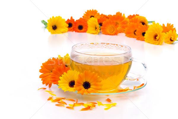 tea marigold 04 Stock photo © LianeM