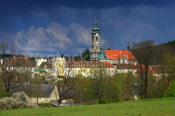 Manastır Bina kilise bulut mimari Avrupa Stok fotoğraf © LianeM