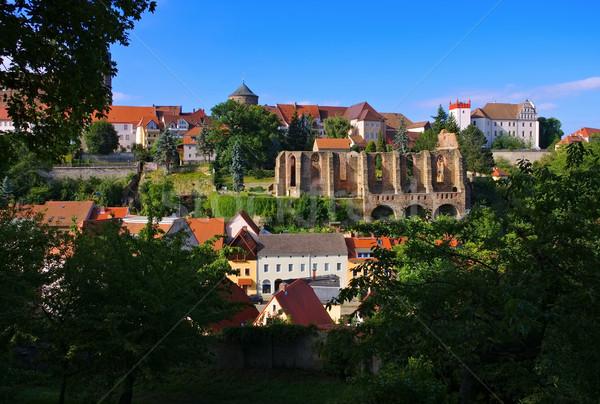 Castelo igreja arruinar Alemanha cidade parede Foto stock © LianeM