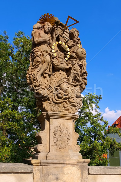 Stock photo: Statue from St. Johns Bridge, Klodzko (Glatz), Silesia