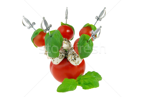 Spugen mozzarella groene kaas bal Rood Stockfoto © LianeM
