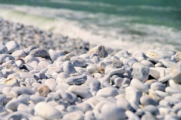 Caillou plage Toscane texture Rock pierre Photo stock © LianeM