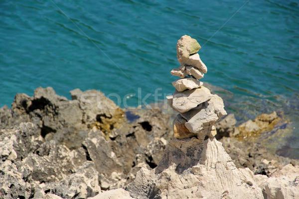 Torre guijarros 17 agua textura naturaleza Foto stock © LianeM