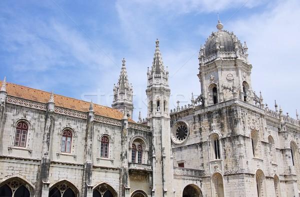 Lisboa monasterio arte iglesia arquitectura religión Foto stock © LianeM