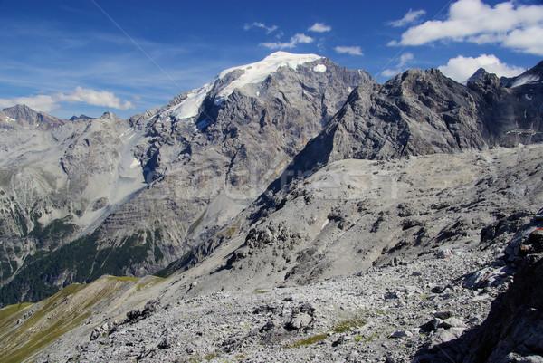 Alpi 26 neve montagna blu rock Foto d'archivio © LianeM