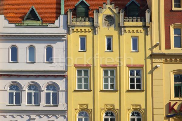 фасад здании строительство дизайна домой окна Сток-фото © LianeM