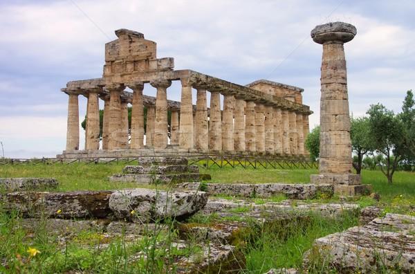 15 небе синий культура храма греческий Сток-фото © LianeM