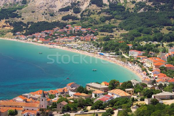 14 manzara deniz yaz mavi seyahat Stok fotoğraf © LianeM