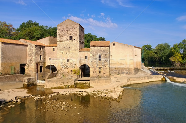 Saint-Thibery watermill, Languedoc-Roussillon Stock photo © LianeM