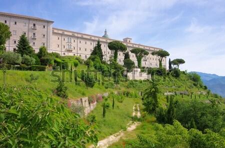аббатство Италия дороги лист лет Сток-фото © LianeM