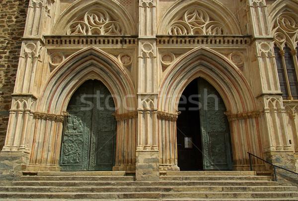 Abadia 10 parede pedra gótico europa Foto stock © LianeM