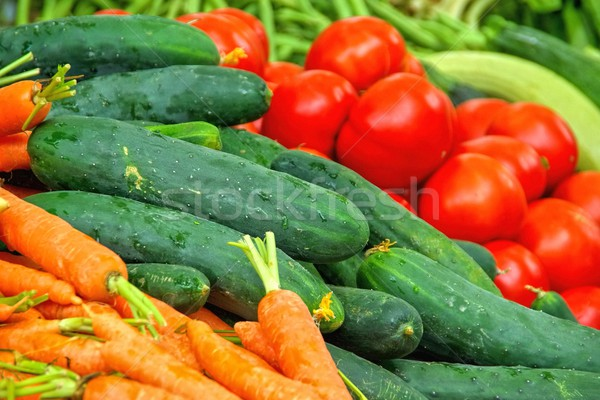 Stock photo: market stall for vegetable