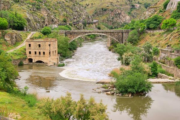 Toledo Puente Nuevo de Alcantara 04 Stock photo © LianeM