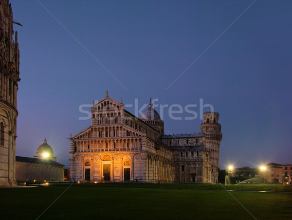 Pisa cathedral night 04 Stock photo © LianeM