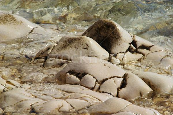 Caillou plage eau fond été océan Photo stock © LianeM
