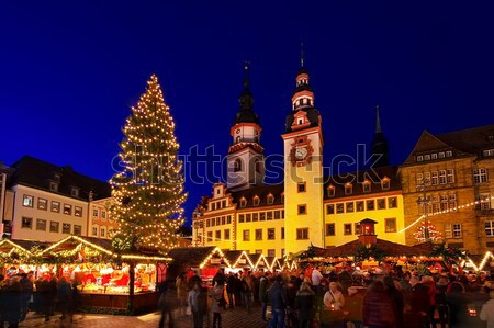 Berlino Natale mercato 13 costruzione città Foto d'archivio © LianeM