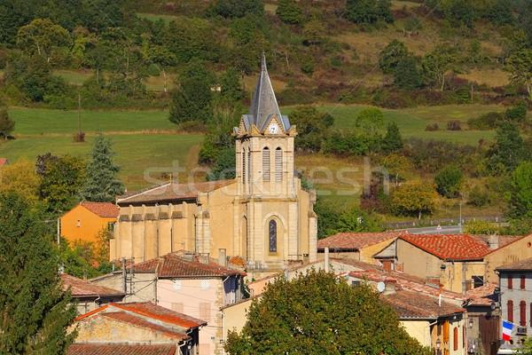 church Puivert in France Stock photo © LianeM