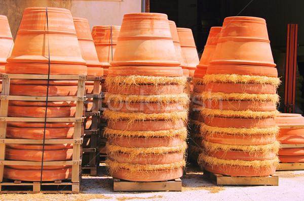 flower pot from terracotta 08 Stock photo © LianeM