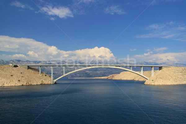 Puente 17 agua carretera mar verano Foto stock © LianeM