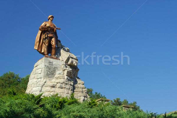 世界 青 赤 戦う ヨーロッパ 彫刻 ストックフォト © LianeM