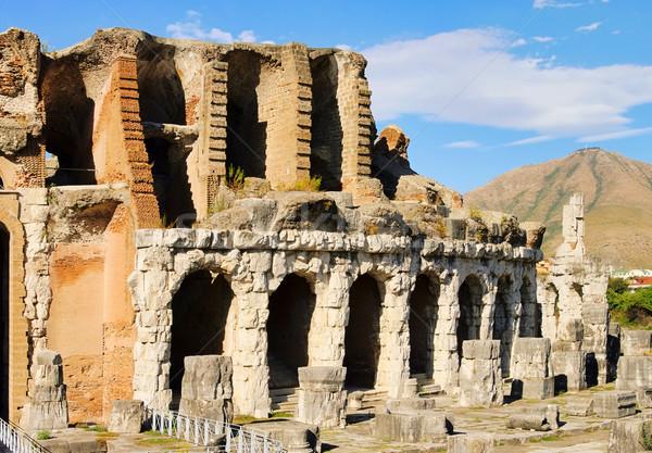 небе синий каменные арки римской Рим Сток-фото © LianeM