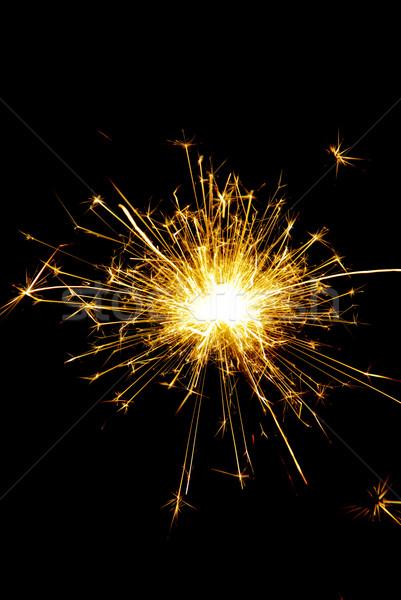 бенгальский огонь вечеринка огня свет весело звездой Сток-фото © LianeM