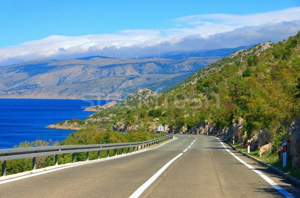 Costa strada Croazia acqua panorama strada Foto d'archivio © LianeM