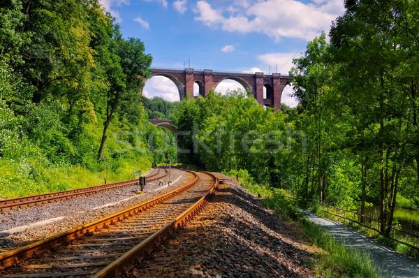 Elster Viaduct,  railway bridge in Saxony Stock photo © LianeM