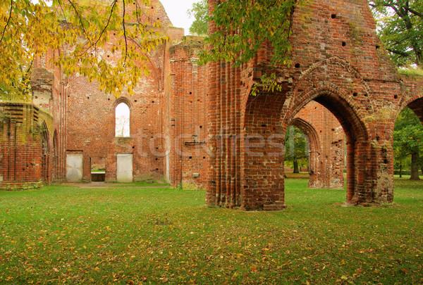 Abadia 12 igreja folhas outono europa Foto stock © LianeM