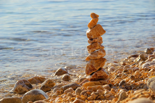 tower from pebbles 03 Stock photo © LianeM