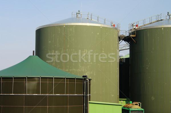 Biogáz növény gazdálkodás Stock fotó © LianeM