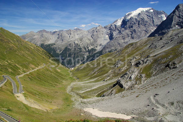 Passz út tájkép hegyek Európa föld Stock fotó © LianeM