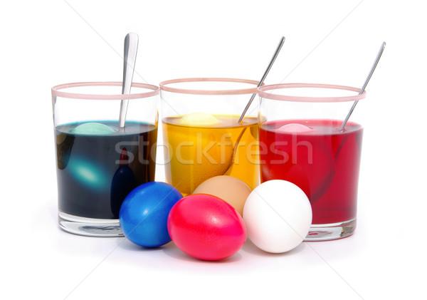 easter eggs colour 15 Stock photo © LianeM
