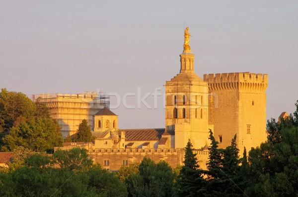 19 épület város templom sziluett építészet Stock fotó © LianeM