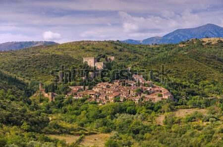 古い 村 フランス 壁 山 ストックフォト © LianeM