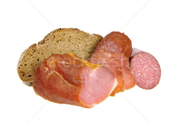 ham bread salami 03 Stock photo © LianeM