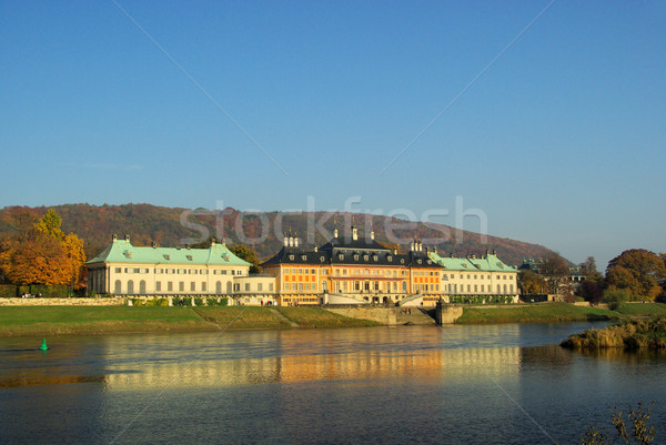 19 дома путешествия замок реке осень Сток-фото © LianeM