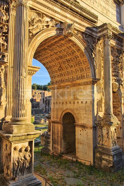 Rome Arch of Septimius Severus 01 Stock photo © LianeM