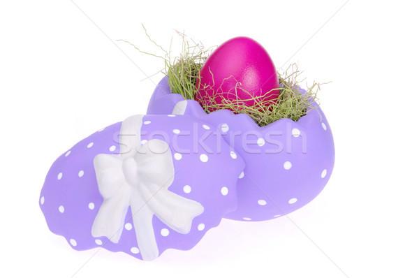 Pasqua basket 26 erba verde uova Foto d'archivio © LianeM