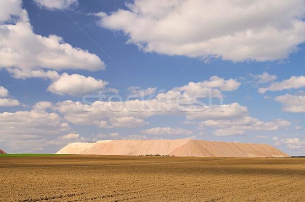 Zielitz potash salt dump 09 Stock photo © LianeM