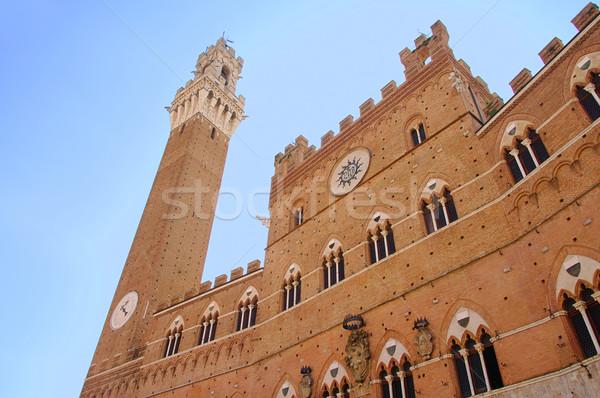 Siena Palazzo Pubblico 01 Stock photo © LianeM