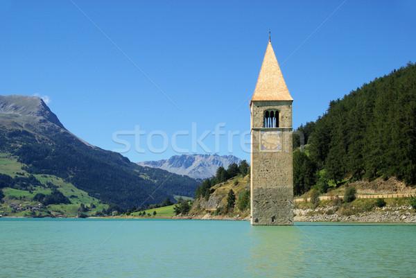 Templom 13 víz kék tó torony Stock fotó © LianeM