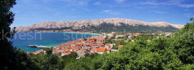 18 landschap zee zomer Blauw reizen Stockfoto © LianeM