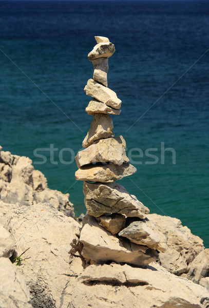 tower from pebbles  Stock photo © LianeM