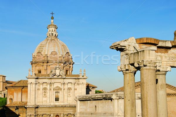 Romani casa viajar arquitetura europa coluna Foto stock © LianeM