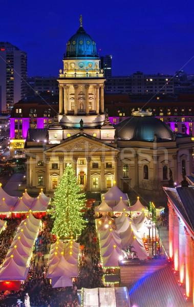 Berlin christmas market Gendarmenmarkt  Stock photo © LianeM