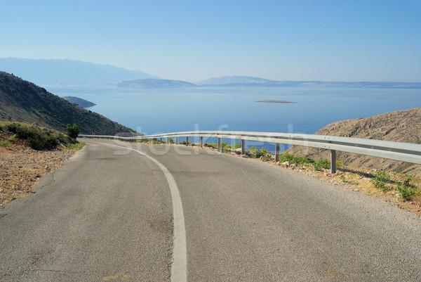 Stara Baska coast road 30 Stock photo © LianeM